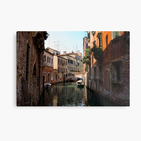 Colorful canal in Venice Italy Metal Print
