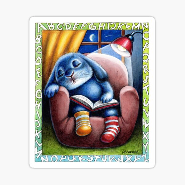 Benny Blue - Reading Sticker
