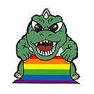 gay pride godzilla by weirdghostparty