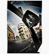 Pedestrian crossing ! Poster