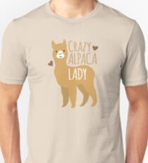 Crazy Alpaca Lady Unisex T-Shirt
