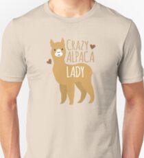 Verrückte Alpaka-Dame Slim Fit T-Shirt