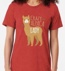 Verrückte Alpaka-Dame Vintage T-Shirt