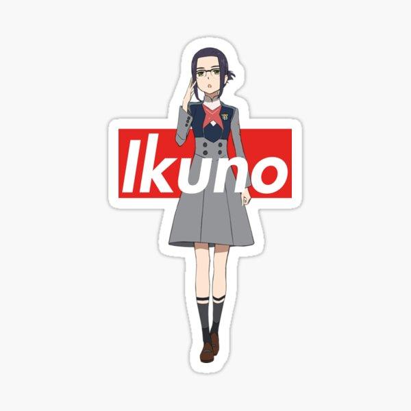 Ikuno - Supreme Box Logo DARLING in the FRANXX Sticker