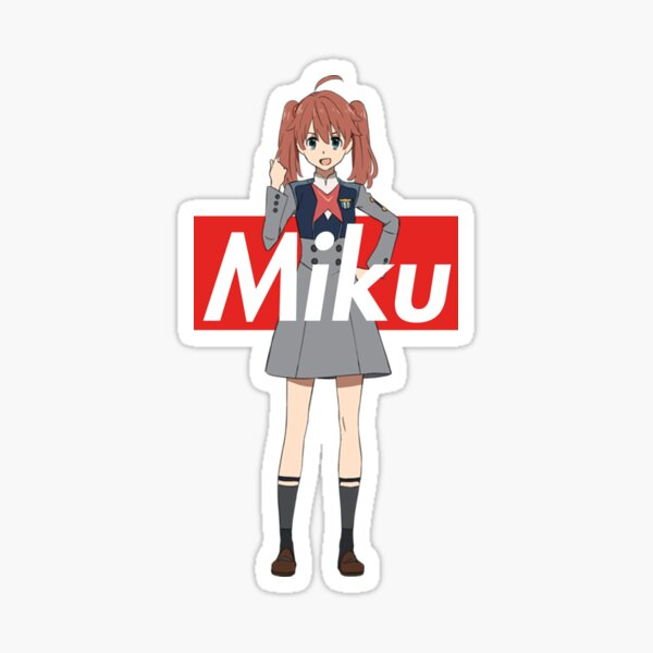 Miku - Supreme Box Logo DARLING in the FRANXX Sticker