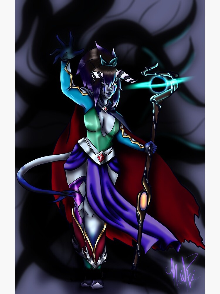 Tiefling Warlock Greeting Card By Winterfiscus Redbubble Originally introduced in the planescape campaign setting in the second edition of. redbubble