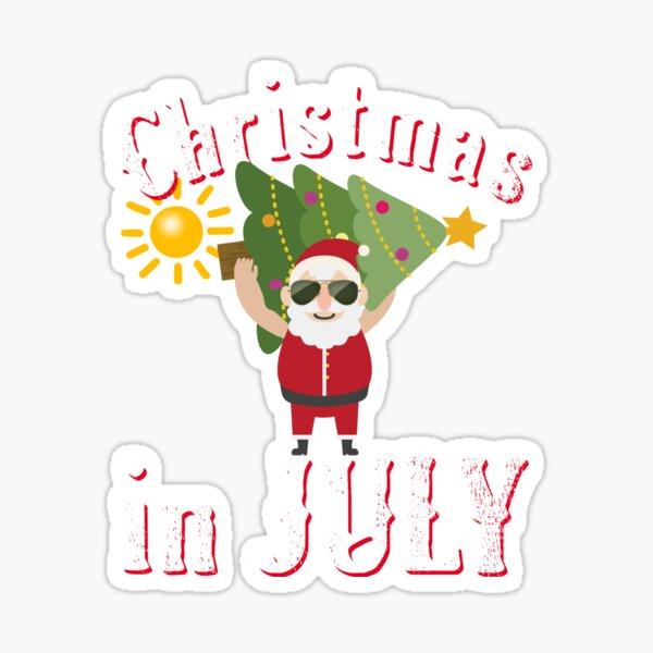 Christmas In July Sticker