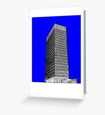Sheffield University Arts Tower- Blue Greeting Card