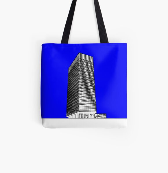 Sheffield University Arts Tower- Blue All Over Print Tote Bag