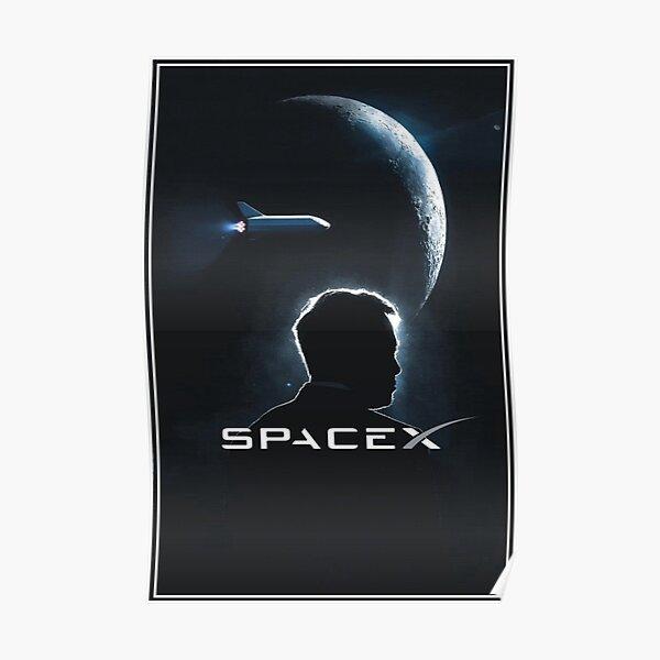 Póster Elon Musk Space X Póster