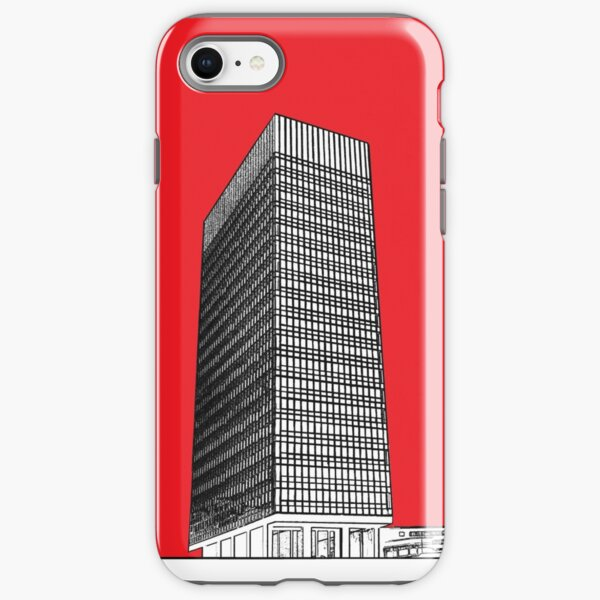 Sheffield University Arts tower - red iPhone Tough Case