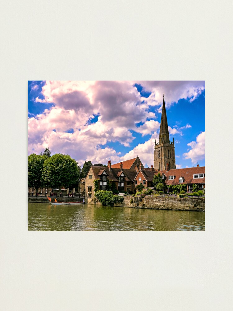 Alternate view of Along the Thames. Photographic Print