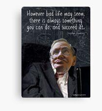 Hawking Talking Canvas Print