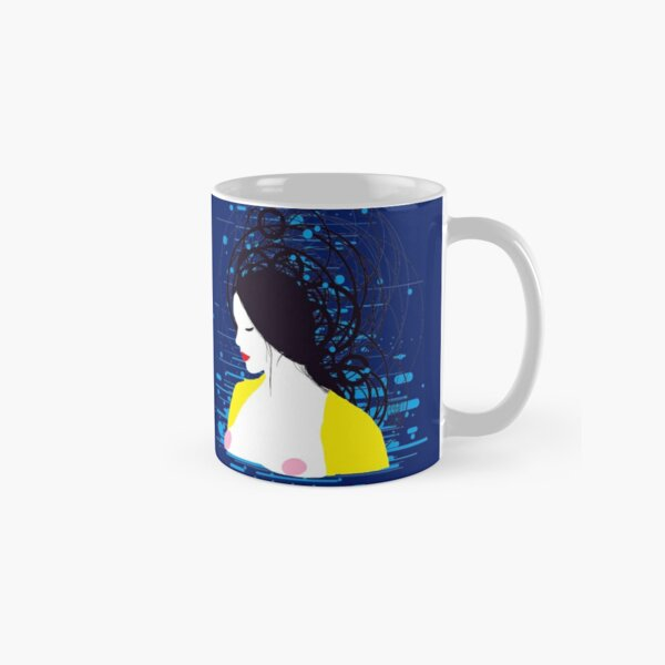 thinking in the water Classic Mug