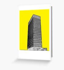 Sheffield university Arts tower- yellow Greeting Card