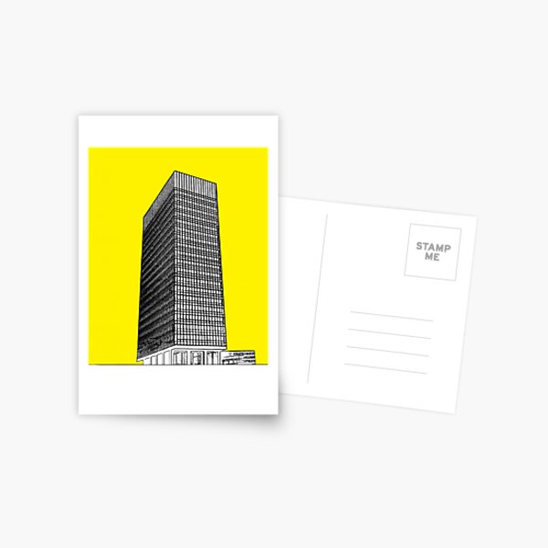 Sheffield university Arts tower- yellow Postcard
