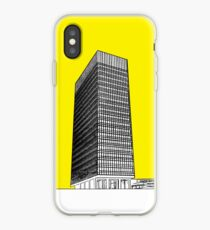 Sheffield university Arts tower- yellow iPhone Case