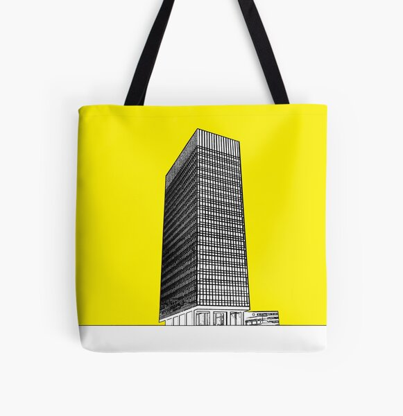 Sheffield university Arts tower- yellow All Over Print Tote Bag