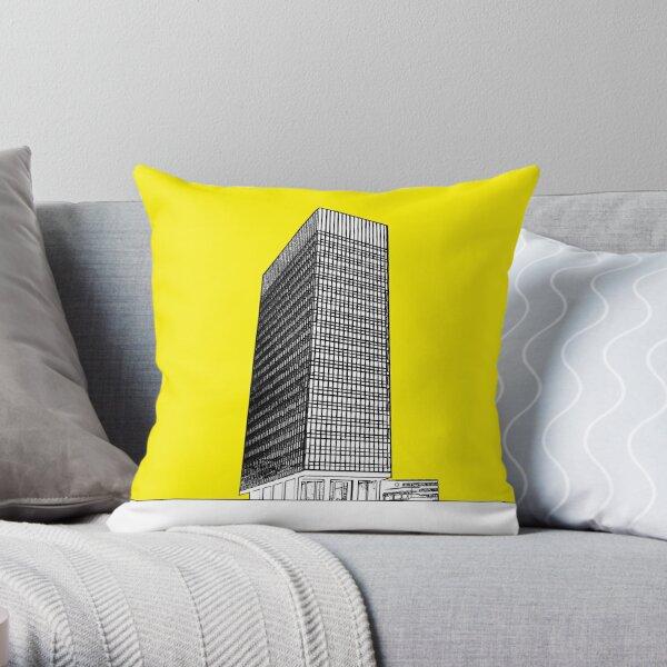 Sheffield university Arts tower- yellow Throw Pillow