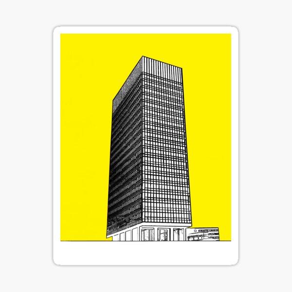 Sheffield university Arts tower- yellow Sticker