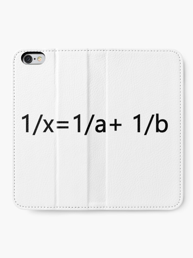 Alternate view of 1/x=1/a+ 1/b iPhone Wallet
