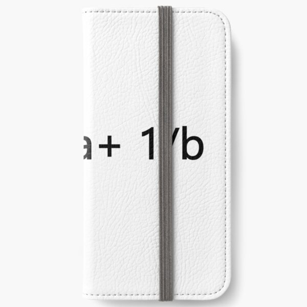 1/x=1/a+ 1/b iPhone Wallet