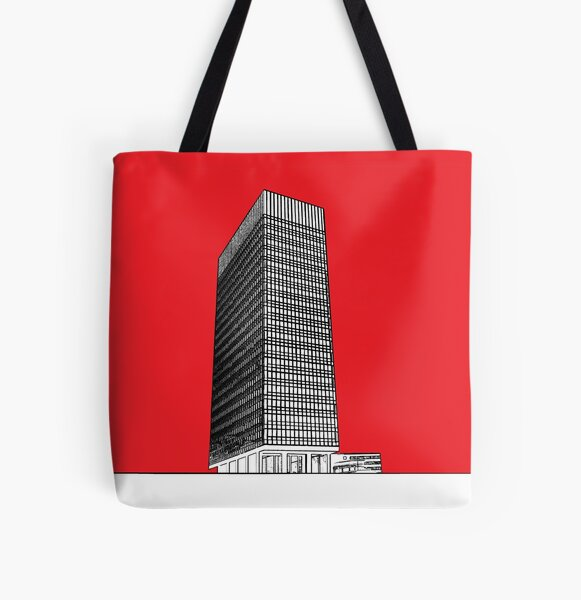 Sheffield University Arts tower - red All Over Print Tote Bag