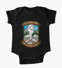 Alter Yellowstone Nationalpark alter zuverlässiger Geysir Baby Body Kurzarm