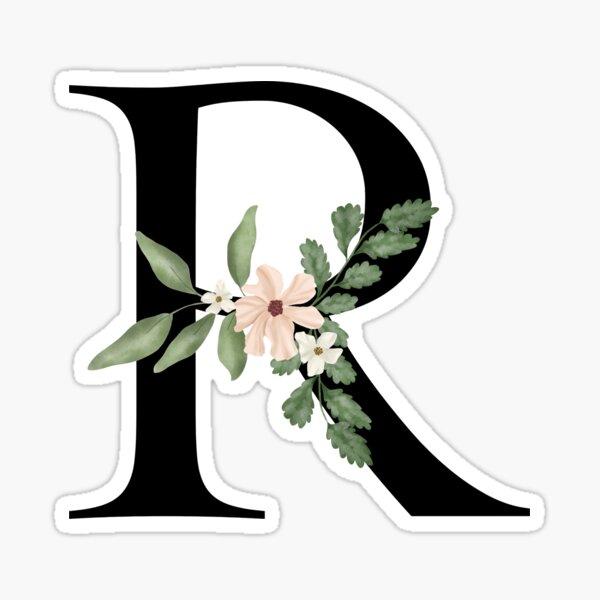 Botanical letter R Sticker
