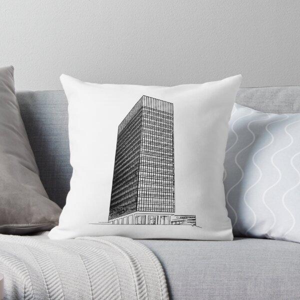 Sheffield University Arts Tower Throw Pillow
