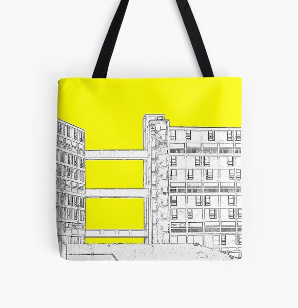 Park Hill - Yellow All Over Print Tote Bag