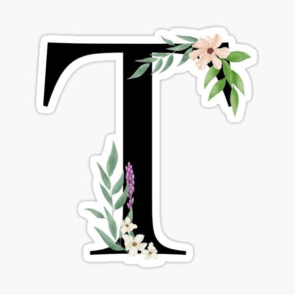 Botanical letter T Sticker
