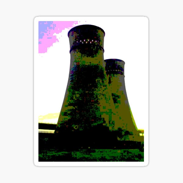 Tinsley Cooling Towers Warhol style part 2 Sticker