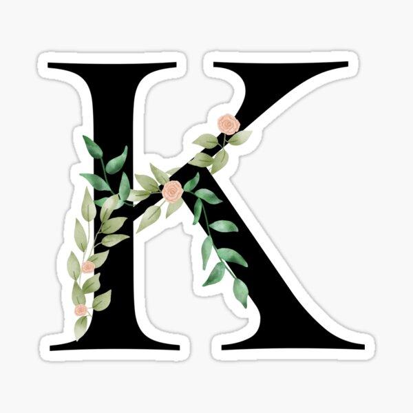 Botanical letter K Sticker
