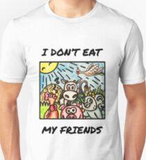 Powered By Plants Damen T-Shirt Vegan Herbivore Tierliebhaber Kleidung