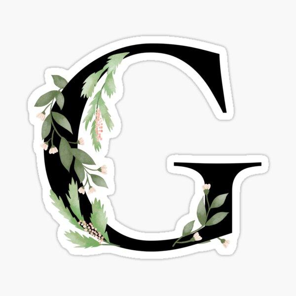 Botanical letter G Sticker