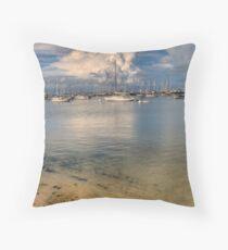 Vineyard Haven Marina Throw Pillow