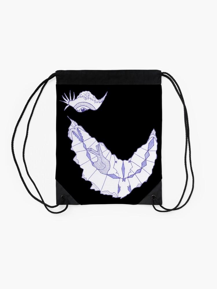 Alternate view of Merch #39 -- Crooked Smile Drawstring Bag