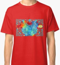Colourful Funky Fractal Art Classic T-Shirt