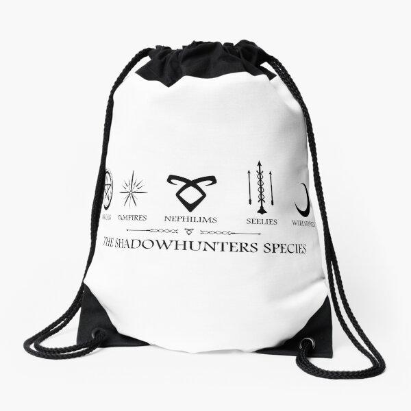 The Shadowhunters Species Warlocks, Vampires, Nephilims, Seelies, Werewolves Drawstring Bag