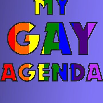 My Gay Agenda Notebook by incurablehippie