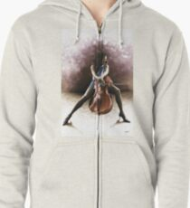 Tranquil Cellist Zipped Hoodie
