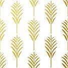 Goldene Palmblätter auf Weiß von AnnaF31