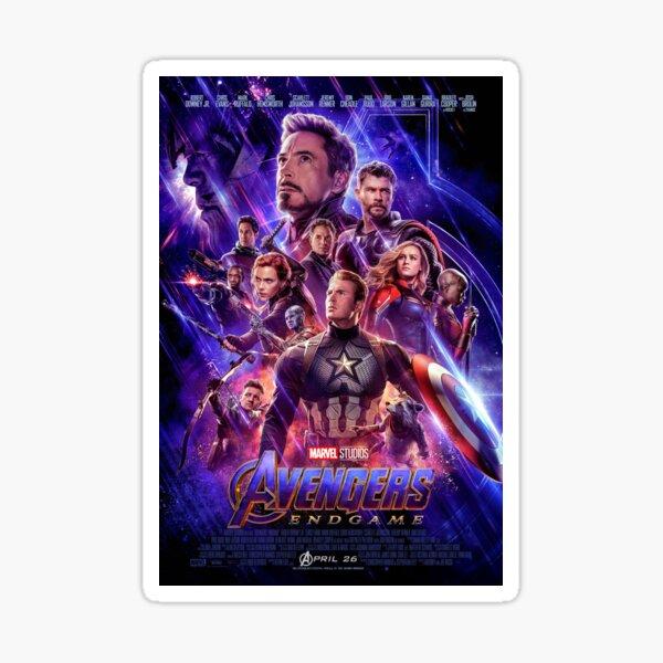 avengers: endgame poster Sticker