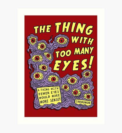Demasiados ojos Lámina artística