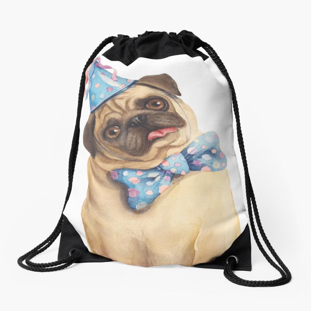 Derp Pug Drawstring Bag