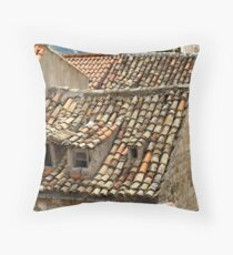 The Old Pantiled Roofs of Dubrovnic Croatia Throw Pillow