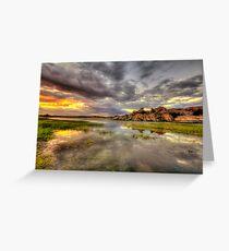 Sundown at Willow Lake Greeting Card