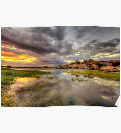 Sundown at Willow Lake Poster