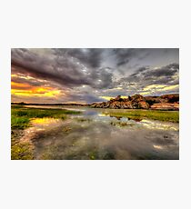 Sundown at Willow Lake Photographic Print